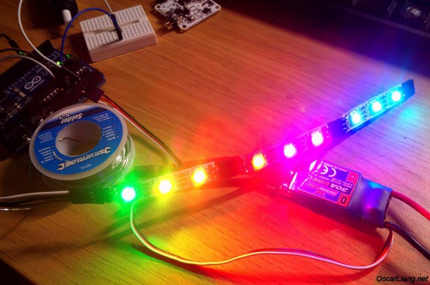 testing-led-with-arduino-cleanflight-rgb-WS2811