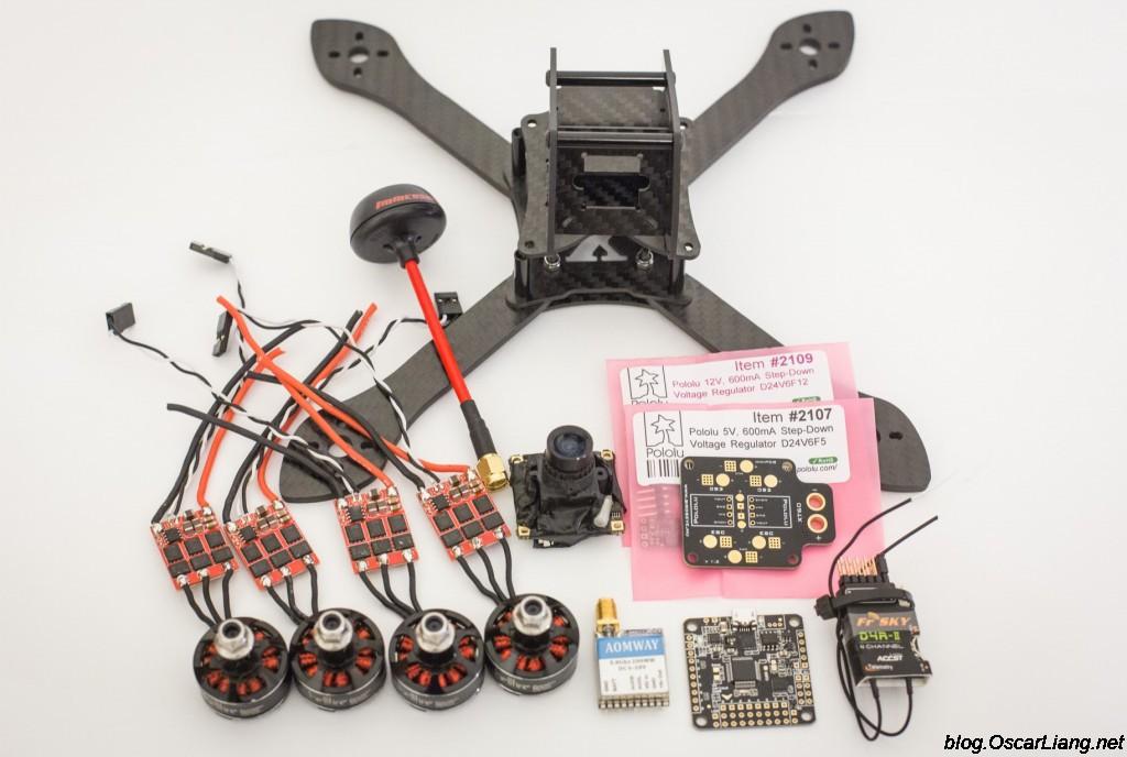 InfiniteFPV-theX-5-6-mini-quad-frame-build-components