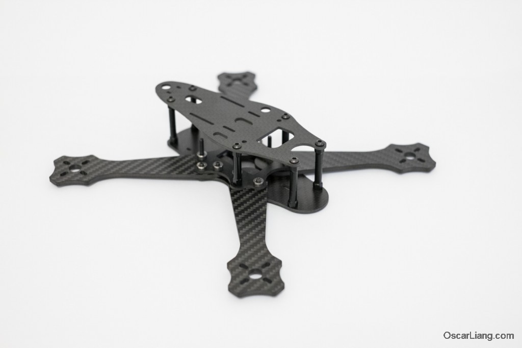Rotoracer-RR210-mini-quad-Frame-assembled-side