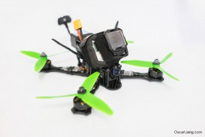 Rotoracer-RR210-mini-quad-Frame-build-gopro