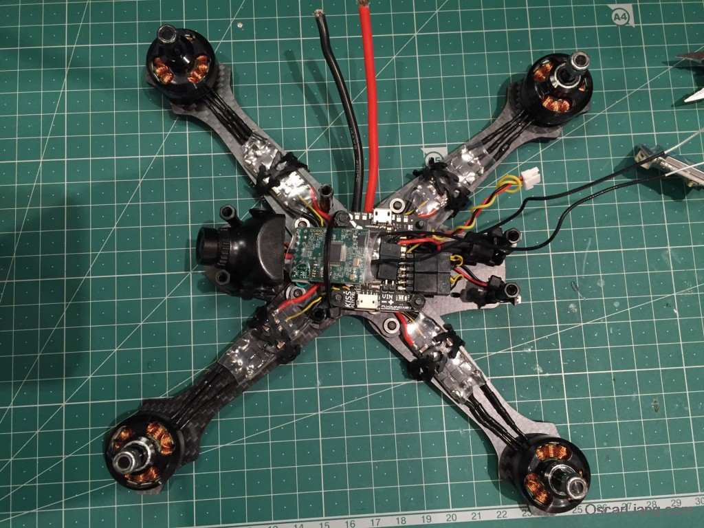 Rotoracer-RR210-mini-quad-Frame-build-log-finish-electroincs