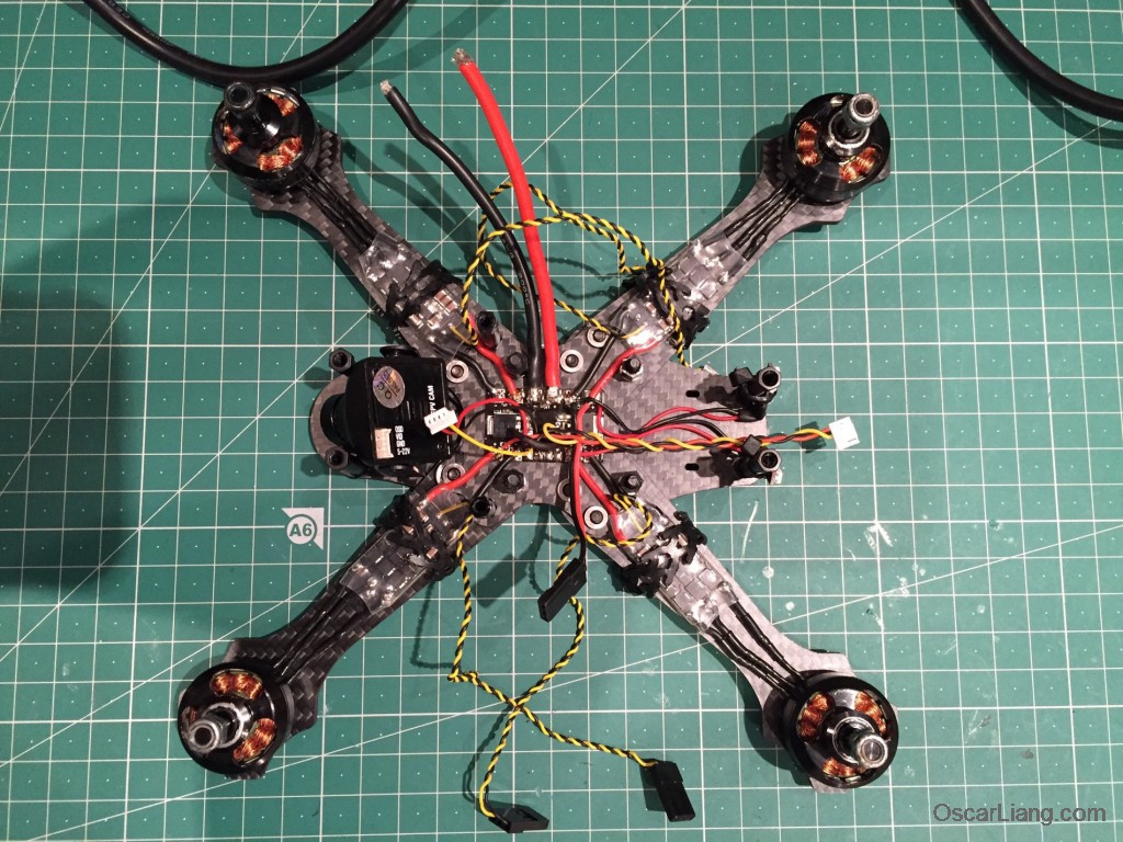Rotoracer-RR210-mini-quad-Frame-build-log-install-camera-lipo-connector