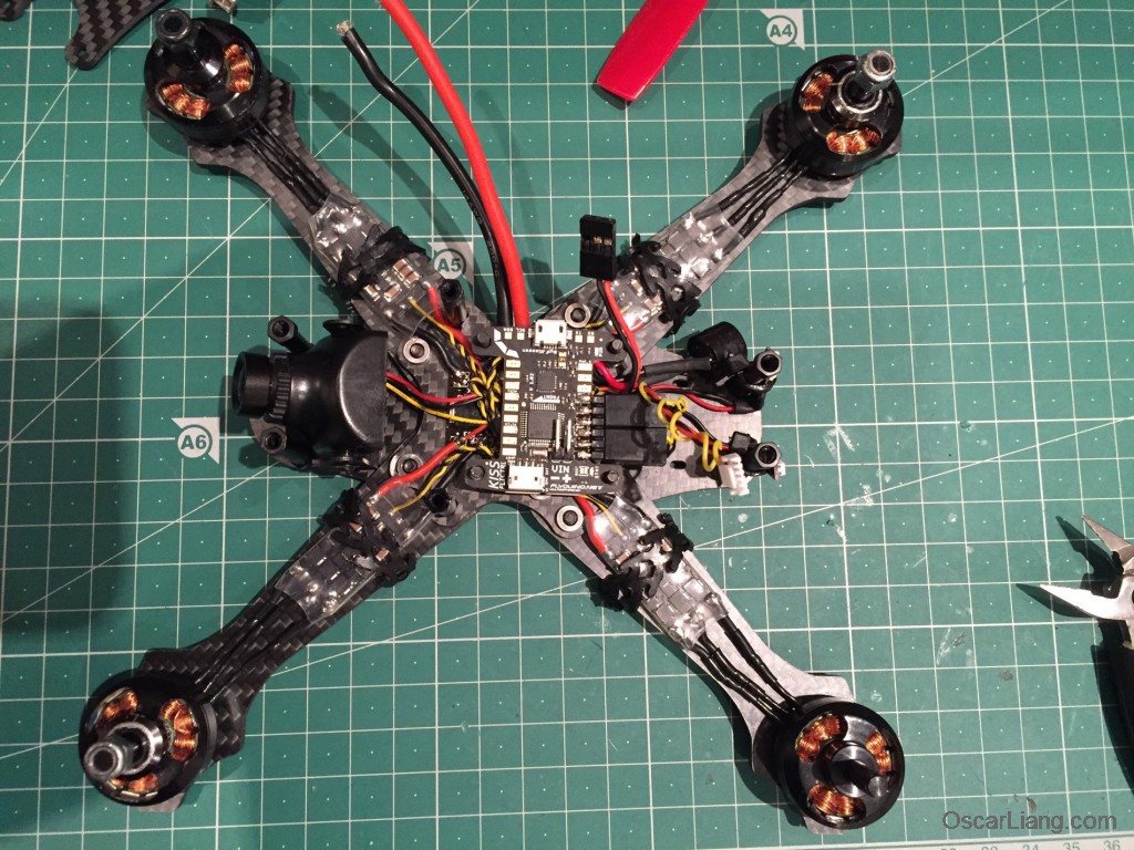 Rotoracer-RR210-mini-quad-Frame-build-log-install-kiss-FC