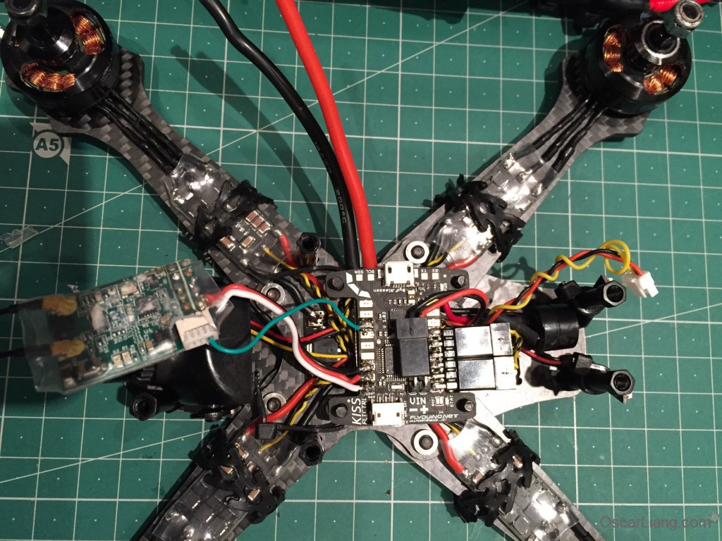Rotoracer-RR210-mini-quad-Frame-build-log-install-x4r-sb-sbus