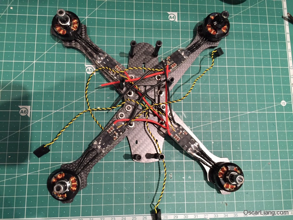 Rotoracer-RR210-mini-quad-Frame-build-log-isntalling-motor-esc