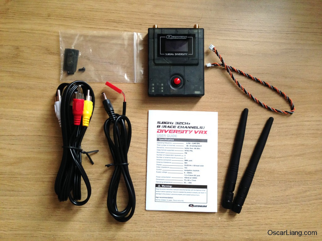 Quanum-FPV-Diversity-Receiver-package-content-unbox