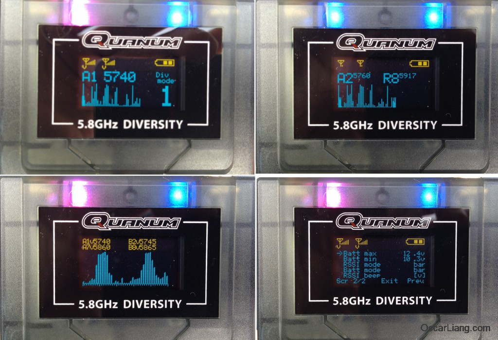 Quanum-FPV-Diversity-Receiver-screen-led-menu