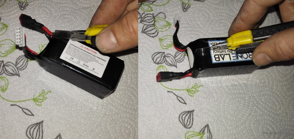 cut-open-package-lipo-bad-cell-combine-fix-battery