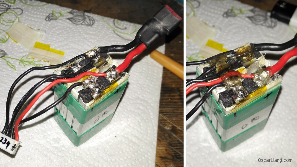 solder-wires-hot-glue-protect-lipo-bad-cell-combine-fix-battery