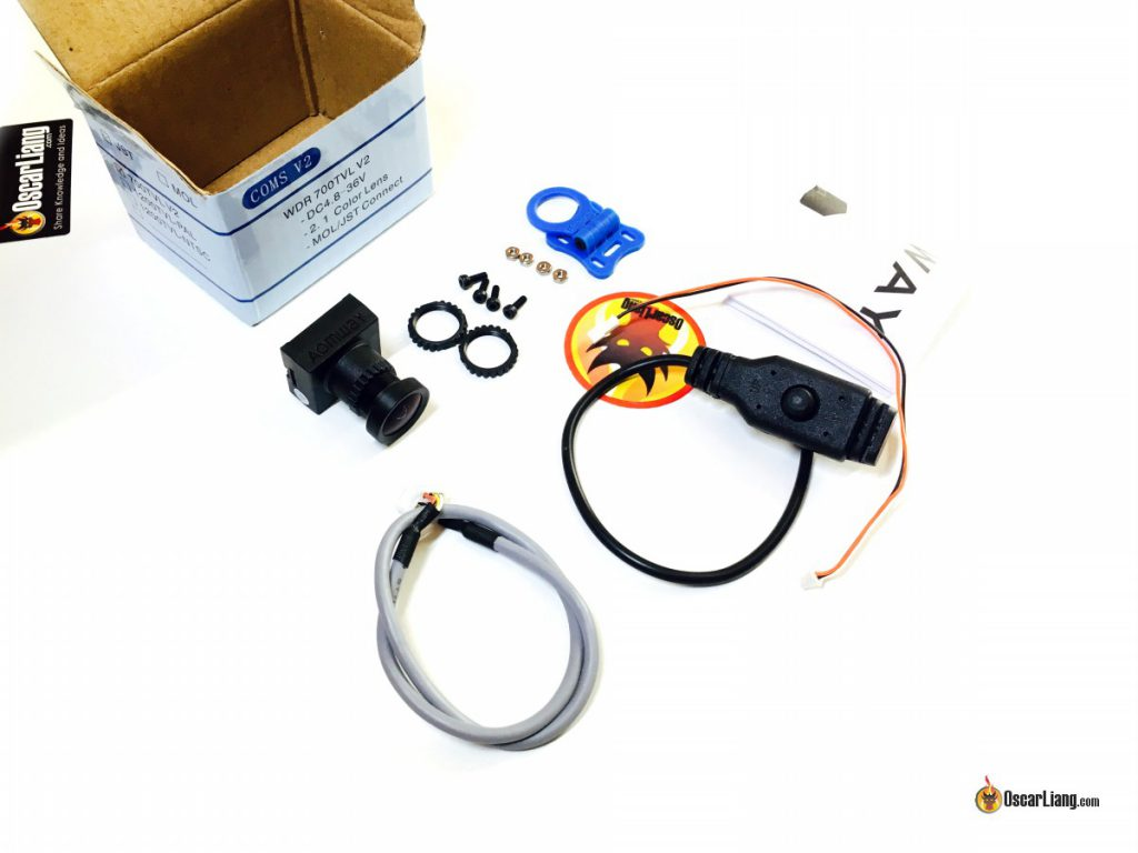 aomway-700tvl-cmos-fpv-camera-v2-unbox-items-parts