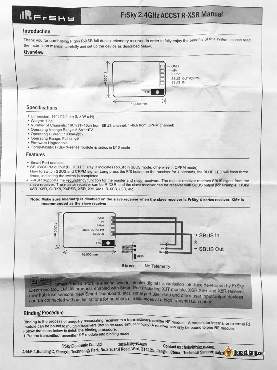 Problem With Wiring Of R Xsr Receiver Help Manual Guide