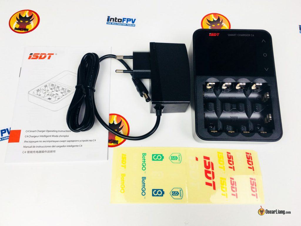 isdt-c4-18650-battery-charger-package-accessories